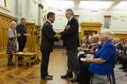 Des Vinten receives his copy