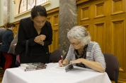 Book signings by the author