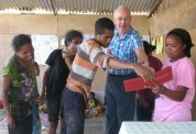 Timorese were fascinated by our photos of family and friends back in New Zealand