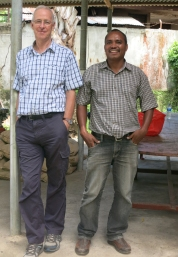 Pat worked alongside World Vision workmate Mateus (pictured) and other staff to show them communication skills ranging from story writing to web publishing and photography.
