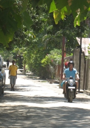We got around Dili on our trusty Honda Scoopy - a great way to travel in the warm tropical air.