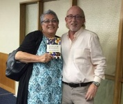 Horiana Nuku and Matt at the Hastings Library launch
