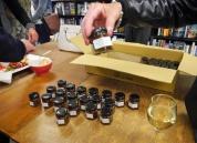 Small jars of Rosaleen's tamarillo chutney to give away