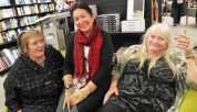 Annie Coughlan, Nayda Te Rangi and Jane Stevens from Aroha Trust enjoy launching a book they're not in.
