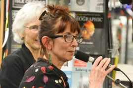 Marion Castree of Unity Books starts proceedings
