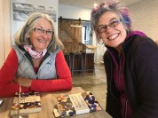 Liz's book club buddies, Alison Kerr and Ros Stewart